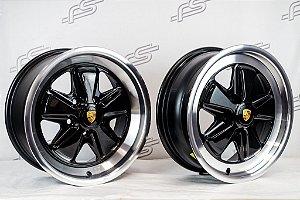 Jogo de Rodas Porsche 911 Fuchs Duas Talas Aro 16 / 5 Furos (5x112) Kombi