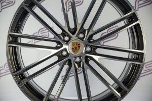 Jogo De Rodas Porsche Macan Turbo S Garfite Diamanatdo 5x112 - 21x9,5 E 21x10