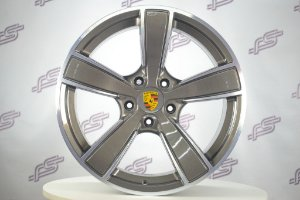 Jogo De Rodas Porsche Boxster Gts Grafite Diamantado 5x130 - 20x8,5 e 20x10,5