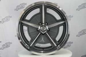Roda Ridler 605 Grey Aro 18 / 5 Furos ( Kit com 4 Rodas)