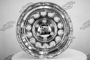 Roda U.S. Wheel Bomber Chrome Aro 15 / 6 Furos (Kit com 4 Rodas)