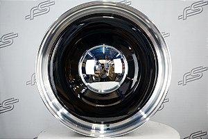 Roda Smoothie Preta com Borda Diamantada Aro 20 5 e 6 Furos