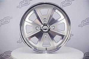 Roda 914 Aro 15 Prata Diamantada / 4 Furos (4x130)