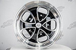 Roda RDW Preta Diamantada Aro 17 / 5 Furos (5x205)