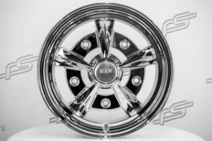 Roda Raider Aro 15 Chrome Paint / 5 Furos