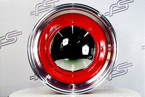 Roda Smoothie Vermelha com Borda Diamantada Aro 15 / 5 e 6 Furos