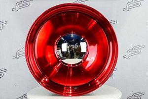 Roda Smoothie Vermelha Metalica Aro 20 5/6 furos