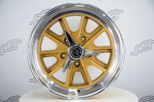 Roda Shelby Dourada Aro 17x7 5x139,7 (KIT COM 4 RODAS)