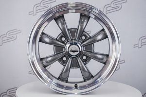 Roda Raw Classics 8 Spoke GT8 Aro 15 Grafite / 4 Furos (4x130)