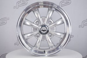 Roda Raw Classics 8 Spoke GT8 Aro 15 Prata / 4 Furos (4x130)