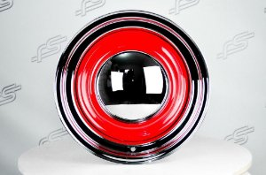 Roda Smoothie Vermelha de Aço Cromada Aro 15X6 5X114,3/120 (CE)