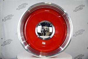 Roda Smoothie Vermelha Borda Diamantada Aro 20x10,5  5/6 furos (Traseira)