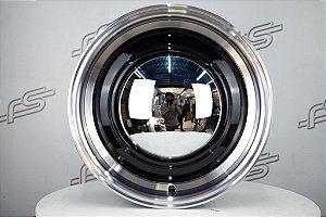 Roda Smoothie para Fusca Aro 15 Preta / 4 Furos (4x130) Traseira