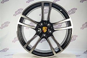 Jogo de Rodas Porsche Cayenne 2018 Preto Diamantado 5x130 - 21x9,5