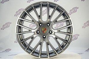 Jogo de Rodas Porsche Cayman Turbo Grafite 5x130 - 20x9 E 10,5