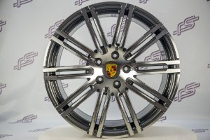 Jogo De Rodas Porsche Macan 911 Turbo Grafite 5x130 - 21x10