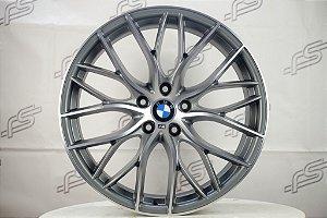 Jogo De Rodas Bmw 335i Bi Turbo Grafite Diamantada 5x120 -20x8,5