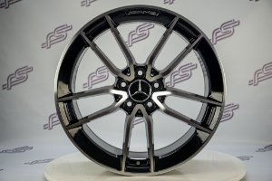 Jogo De Rodas Mercedes CLS-53 2020 Preto Diamantado 5x112 - 19x8