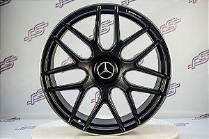 Jogo De Rodas Mercedes GLC-43 Preto Fosco 5x112 - 21x9,5