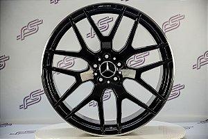Jogo De Rodas Mercedes GLE 2018 Preto Diamantado 5x112 - 21x10