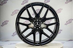 Jogo De Rodas Mercedes GLE-63 AMG 2018 Preto Fosco 5x112 - 22x10