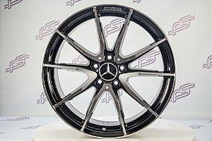 Jogo De Rodas Mercedes GT-S 2018 Preto Diamantado 5x112 - 18x8