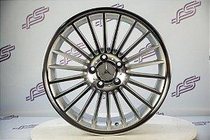 Jogo De Rodas Mercedes SL-55 AMG Prata 5x112-18x8 Offset 30 E 45