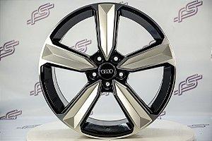 Jogo De Rodas Audi Rs5 2018 Preto Diamantado 5x112 - 19x8,5