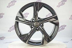 Jogo De Rodas Audi Rs5 2020 Grafite Diamantado 5x112 - 18x8