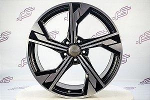 Jogo De Rodas Audi Rs5 2020 Preto Diamantado Fosco 5x112 - 19x8,5