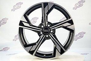 Jogo de Rodas Audi Rs5 2020 Preto Fosco Diamantado 5x100-18