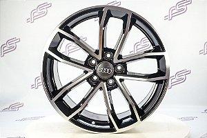 Jogo De Rodas Audi S5 Coupe 2018 Preto Diamantado 5x112 - 18x8,5