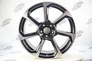 Jogo De Rodas Audi TT Rs Preto Diamantado Fosco 5x112 - 19x8,5