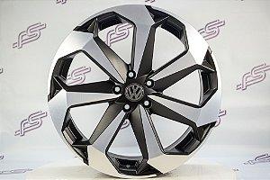 Jogo De Rodas VW  Jetta 2020 Preto Diamantado Fosco  5x113 - 20x8