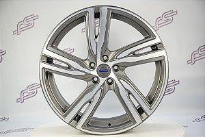 Jogo De Rodas Volvo XC 90 2018 Grafite Diamantado Fosco 5x108 - 20x8