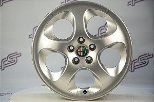 Jogo De Rodas Alfa Romeo Twin Spark Original Prata 5x98 - 16x6,5 Offset 41,5 (Sn)