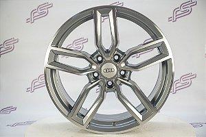 Jogo De Rodas Audi S3 2018 Grafite Diamantado 5x112 - 18x8