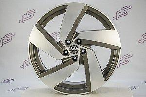 Jogo De Rodas VW Polo Gti Passione Grafite Diamantado 5x100 - 20x7,5