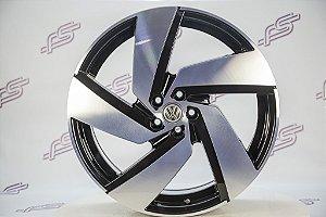 Jogo De Rodas VW Polo Gti Passione Preto Diamantado 5x112 - 20x7,5