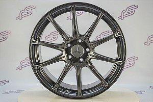Jogo De Rodas Mercedes AME Auto Mobili Raiada Grafite 5x112 - 19x8,5
