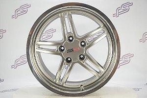 Jogo De Rodas Corvette Cray Scorpion Prata 5x120 - 18x10,5 e  19x9