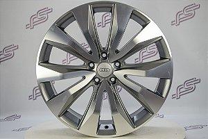 Jogo De Rodas Audi A8 Grafite Diamantado 5x112 - 20x7,5