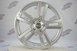 Jogo De Rodas Gisa Wheels Mod: 7356 Silver 5x112 - 19x7,5