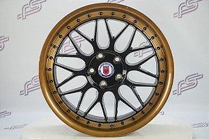 Jogo De Rodas Performance HRE Serie 300 Preto Brilhante 5x112 - 18x8,5
