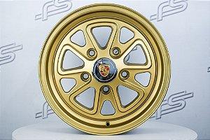 Roda 911 Fuchs II Dourada Aro 15 / 5 Furos (5x130)