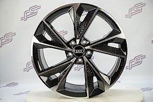 Jogo De Rodas Audi Rs7 2020 Preto Diamantado 5x112 - 19x8,5
