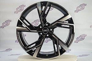 Jogo De Rodas Audi Rs6 2020 Preto Diamantado Brilhante 5x112 - 20x8,5