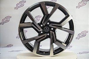 Jogo De Rodas VW Golf Gti Europeu Preto Diamantado 5x112 - 19x7,5