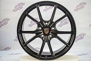 Jogo De Rodas Porsche Boxster 981 Preto Fosco 5x130 - 20x8,5 E 20x9,5