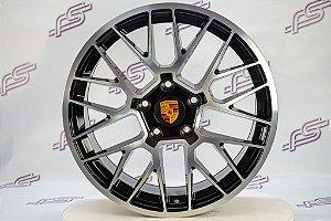 Jogo De Rodas Porsche Gts Preto 5x130 - 19x8,5 e 19x9,5